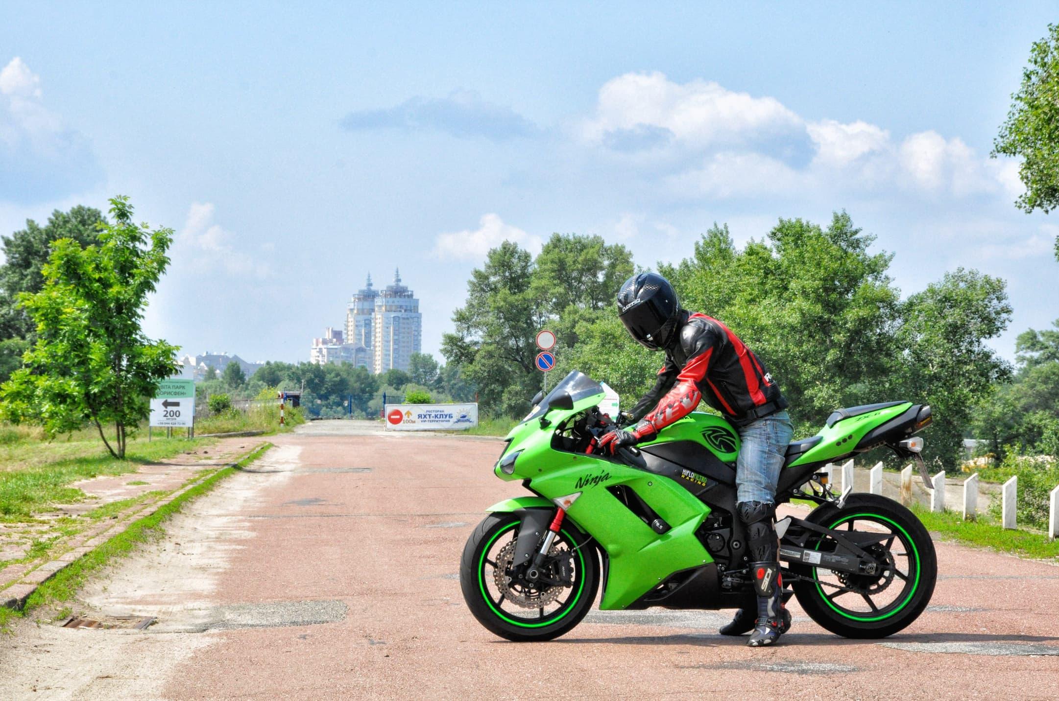 занятия на мотоцикле в Киеве